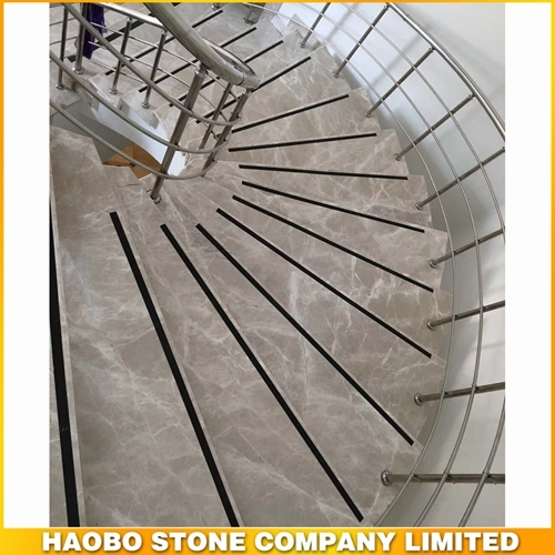 Polished Flash Grey Marble Stairs Manufacturer